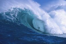 Surfer Shooting the Curl of Jaws at Peahi on Maui-Ron Dahlquist-Photographic Print