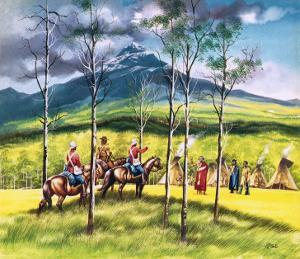 Mountie, James Walsh, Meeting Sitting Bull to Persuade Him of the Need for Peace by Ron Embleton