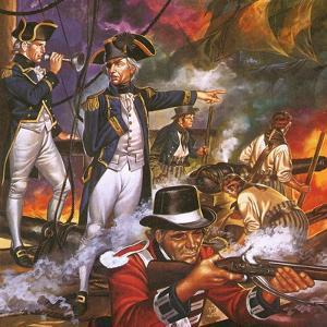 Nelson in the Battle of Trafalgar by Ron Embleton