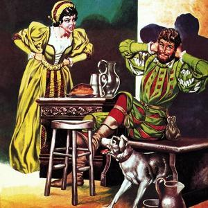 Petruchio and Katherine, from Shakespeare's Comedy, the Taming of the Shrew by Ron Embleton