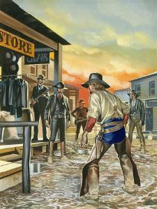 Shoot Out in the Wild West by Ron Embleton