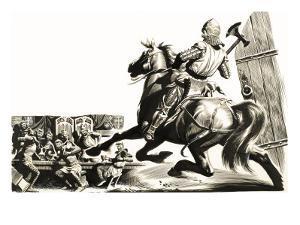 Sir Gawain and the Green Knight, 1952 by Ron Embleton