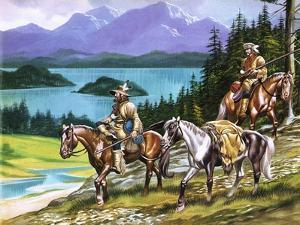 Trappers in the Wild West by Ron Embleton