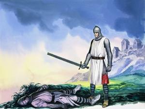 Tristan Sets Forth for Ireland, from 'Tristan and Isolde', 1973 by Ron Embleton