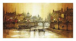 Le Vieil Pont by Ron Folland