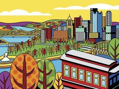 Pittsburgh Incline Autumn Pop