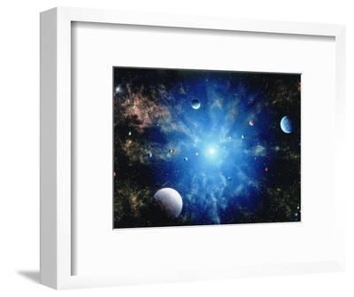 Space Illustration Titled Nova