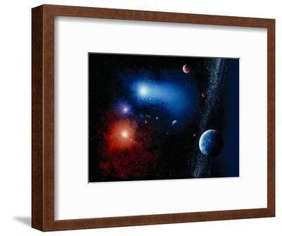Space Illustration Titled Novae Stella