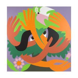 Bird Watchers, 1973 by Ron Waddams