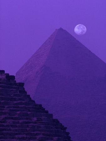 Moon and Pyramid of Khafre
