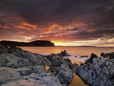 Sunset, Town of Trinity, Bonavista Peninsula, NewFoundLand and Labrador, Canada.