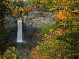 Waterfall Amongst Autumn Foliage by Ron Watts