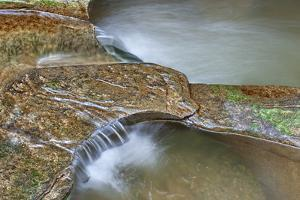 Close Up of Potholes, at Fall Creek Gorge, Warren County, Indiana by Rona Schwarz