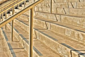Concrete Stairs Along the Embarcadero, San Diego, California by Rona Schwarz
