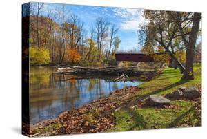 USA, Indiana, Cataract Falls State Recreation Area, Covered Bridge by Rona Schwarz