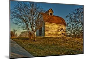 USA, Indiana, Rural Scene of Red Roofed Barn by Rona Schwarz