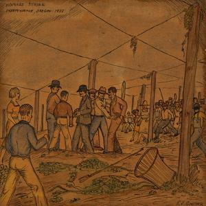 A Hop Field of Strikers and Farmers in Independence by Ronald Ginther