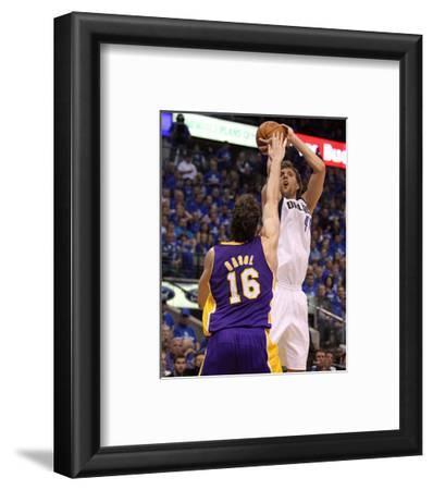 Los Angeles Lakers v Dallas Mavericks - Game Three, Dallas, TX - MAY 06: Dirk Nowitzki and Pau Gaso