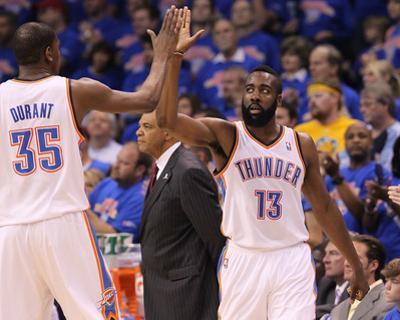 Memphis Grizzlies v Oklahoma City Thunder - Game Seven, Oklahoma City, OK - MAY 15: Kevin Durant an