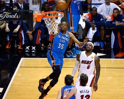Miami, FL - June 17: Kevin Durant and LeBron James