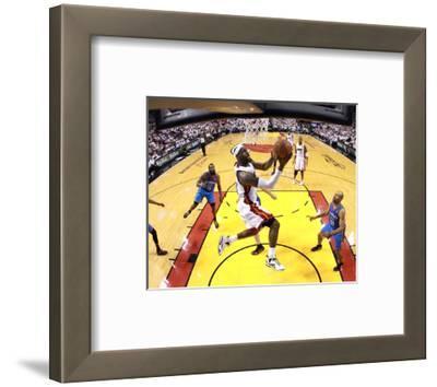 Miami, FL - June 21:  Miami Heat and Oklahoma City Thunder Game Five, LeBron James and Derek Fisher