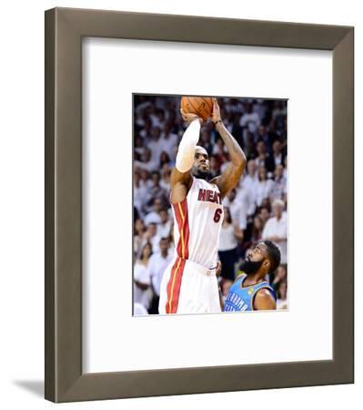 Miami, FL - June 21:  Miami Heat and Oklahoma City Thunder Game Five, LeBron James and James Harden