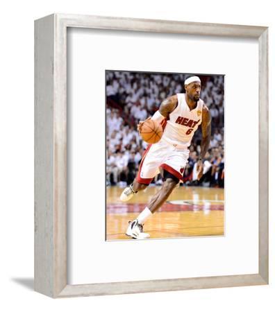 Miami, FL - June 21:  Miami Heat and Oklahoma City Thunder Game Five, LeBron James