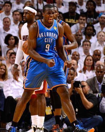 Miami, FL - June 21:  Miami Heat and Oklahoma City Thunder Game Five, Serge Ibaka