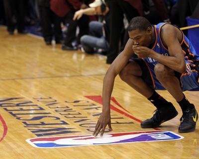 Oklahoma City Thunder v Dallas Mavericks - Game Five, Dallas, TX - MAY 25: Kevin Durant