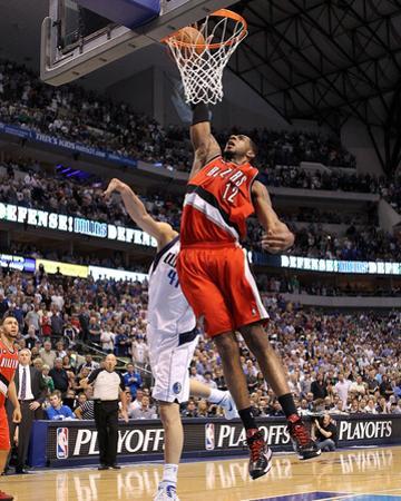 Portland Trail Blazers v Dallas Mavericks - Game One, Dallas, TX - APRIL 16: LaMarcus Aldridge