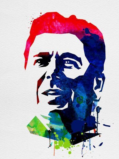 Ronald Reagan Watercolor-Lora Feldman-Art Print