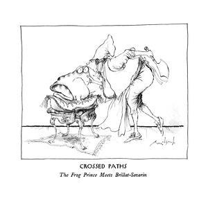 CROSSED PATHS-The Frog Prince Meets Brillat-Savarin. - New Yorker Cartoon by Ronald Searle