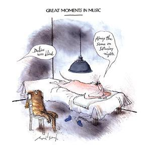 GREAT MOMENTS IN MUSIC-'Delius was blind.' - New Yorker Cartoon by Ronald Searle