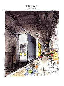RUSH HOUR - New Yorker Cartoon by Ronald Searle