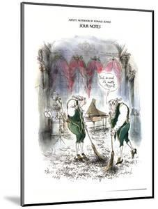Sour Notes-'Yeah, as usual it's mostly Mozart' - New Yorker Cartoon by Ronald Searle