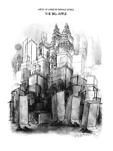 The Big Apple - New Yorker Cartoon by Ronald Searle