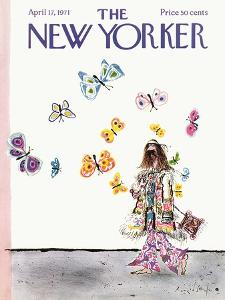 The New Yorker Cover - April 17, 1971 by Ronald Searle