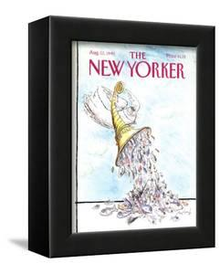 The New Yorker Cover - August 13, 1990 by Ronald Searle