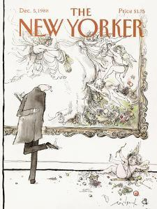 The New Yorker Cover - December 5, 1988 by Ronald Searle