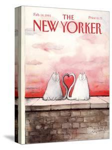 The New Yorker Cover - February 18, 1991 by Ronald Searle