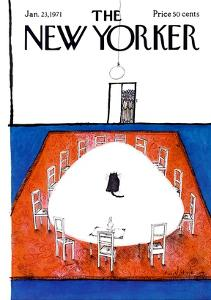 The New Yorker Cover - January 23, 1971 by Ronald Searle
