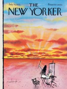 The New Yorker Cover - July 16, 1973 by Ronald Searle
