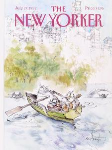 The New Yorker Cover - July 27, 1992 by Ronald Searle