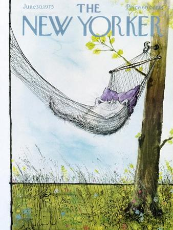 The New Yorker Cover - June 30, 1975 by Ronald Searle
