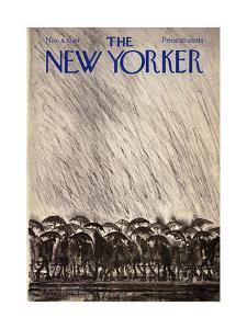 The New Yorker Cover - November 8, 1969 by Ronald Searle