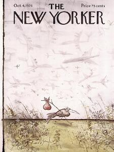 The New Yorker Cover - October 4, 1976 by Ronald Searle