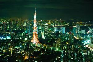 Tokyo Tower at Night by Ronnie Tan