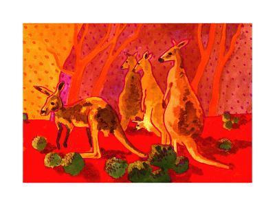 Roo Herd-John Newcomb-Giclee Print