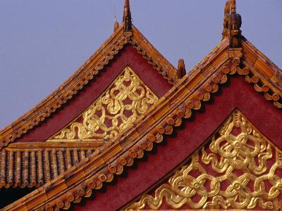 Roof Detail of Beijing's Forbidden City Bejing, China-Phil Weymouth-Photographic Print