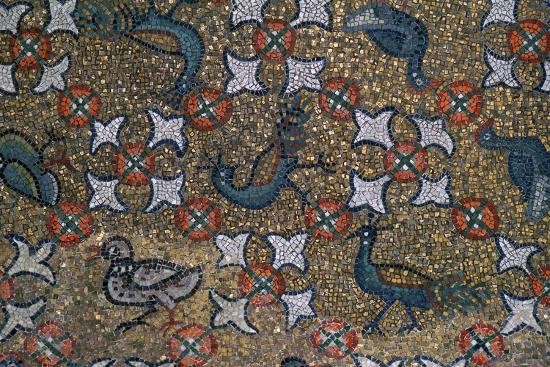 Roof mosaic of peacocks and other birds, 6th century. Artist: Unknown-Unknown-Giclee Print